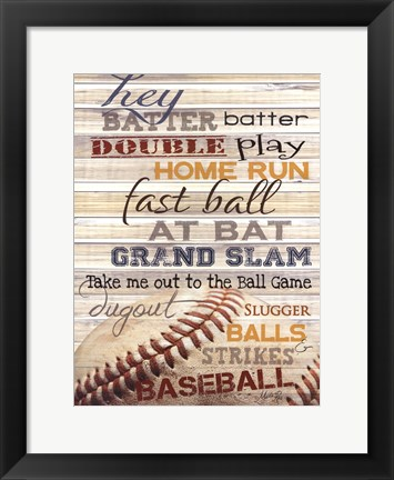 Framed Hey Batter Batter Print