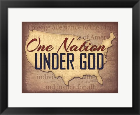 Framed One Nation Under God Print