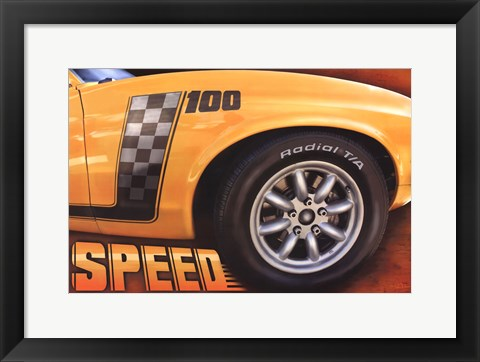 Framed Speed Print
