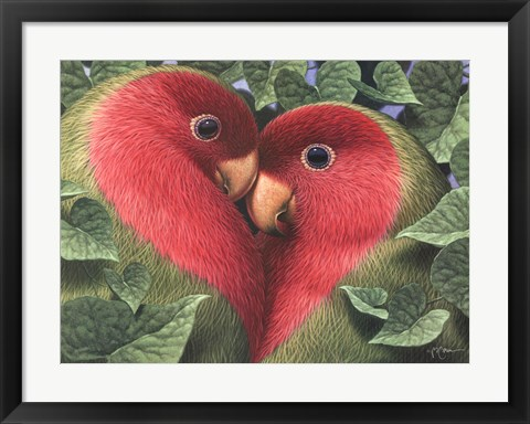 Framed Feathered Heart Print