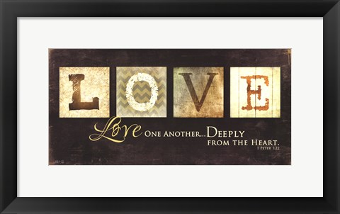 Framed Love One Another Print