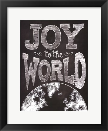 Framed Joy to the World Print