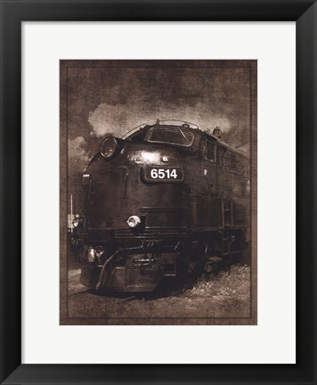 Framed Diesel Electric Locomotive Print
