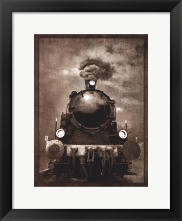 Framed Steam Engine Locomotive Print