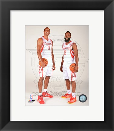 Framed James Harden & Dwight Howard 2013-14 Posed Print