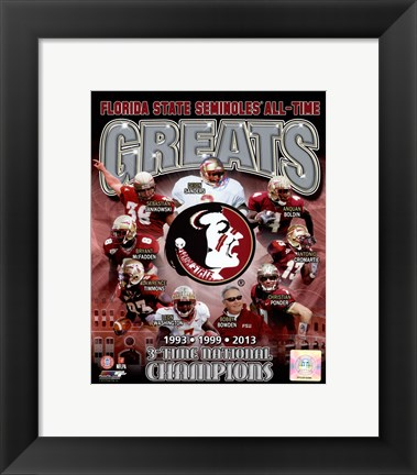 Framed Florida State University Seminoles All Time Greats Composite Print