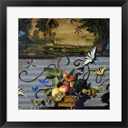 Framed Picnic With Caravaggio Print
