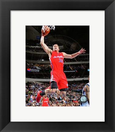 Framed Blake Griffin 2013-14 slam dunk Print