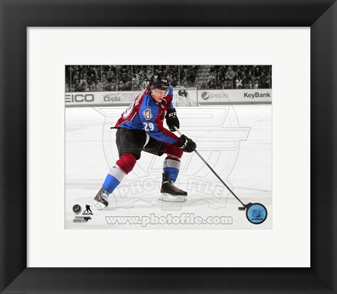 Framed Nathan MacKinnon 2013-14 Spotlight Action Print
