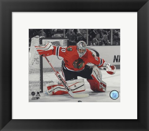 Framed Corey Crawford 2013-14 Spotlight Action Print