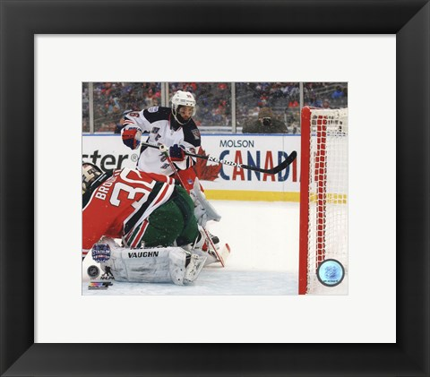 Framed Mats Zuccarello Goal 2014 NHL Stadium Series Print