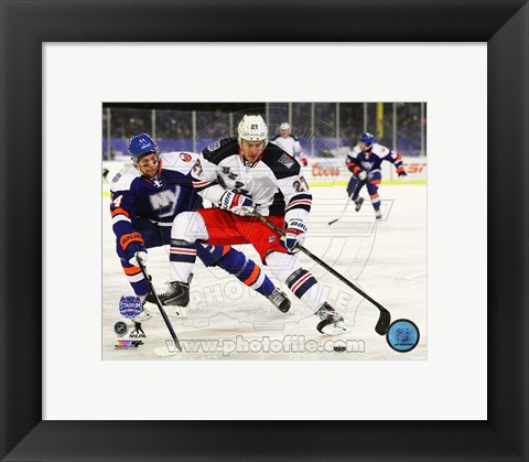 Framed Ryan McDonagh 2014 NHL Stadium Series Action Print