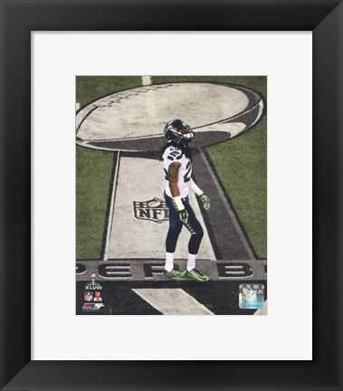 Framed Richard Sherman Super Bowl XLVIII Action Print