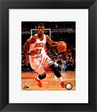 Framed Jimmy Butler with the ball 2013-14 Print
