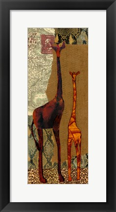 Framed On Safari I Print