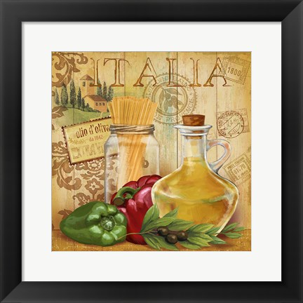 Framed Italian Kitchen II Print