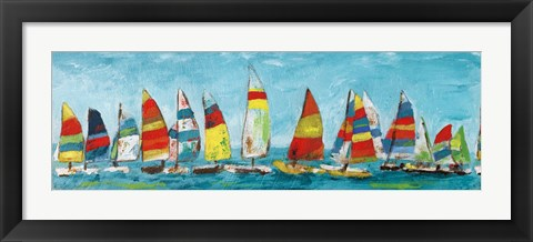 Framed Sailing Away Print