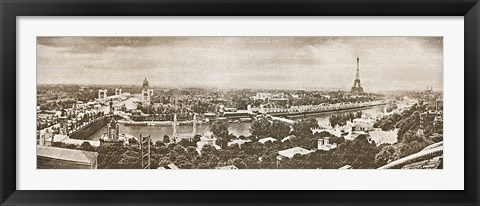Framed Paris Panorama Print