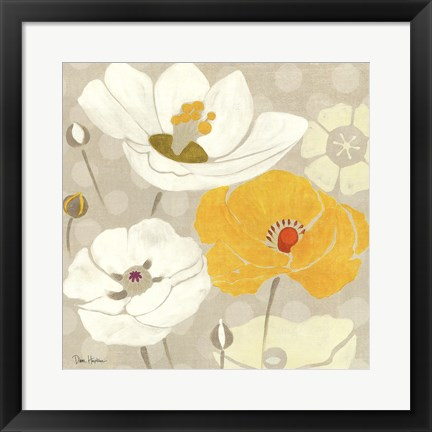 Framed Sunshine Poppies I Square Print