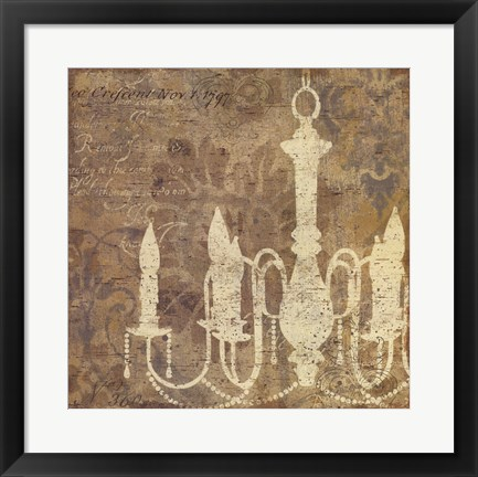 Framed Faded Ornate II Gray no Butterfly Print