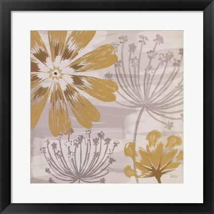Framed Flowers in the Wind I Print