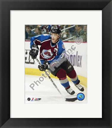 Framed Joe Sakic Action Print