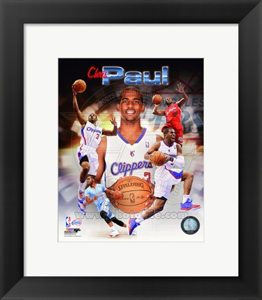 Framed Chris Paul 2014 Portrait Plus Print