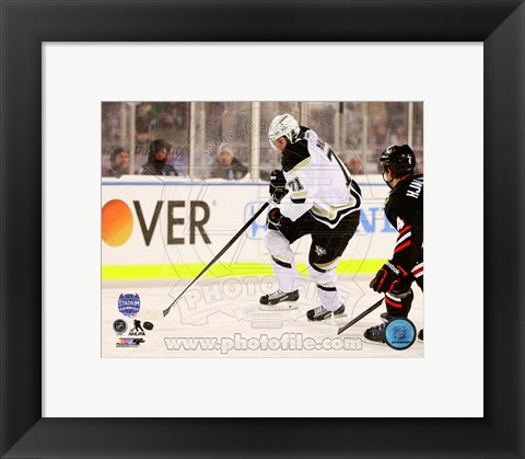 Framed Evgeni Malkin 2014 NHL Stadium Series Action Print