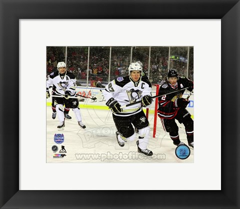Framed Sidney Crosby 2014 NHL Stadium Series Action Print