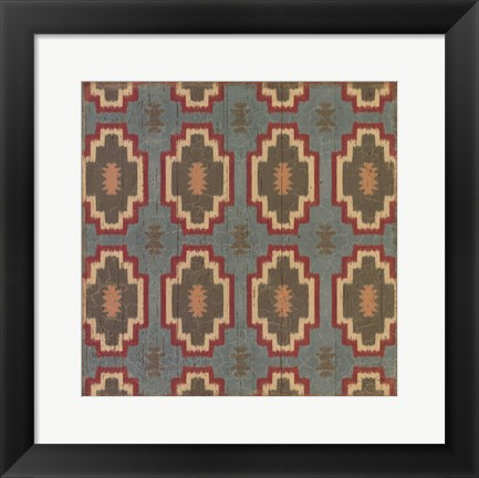 Framed Country Mood Tile III Print