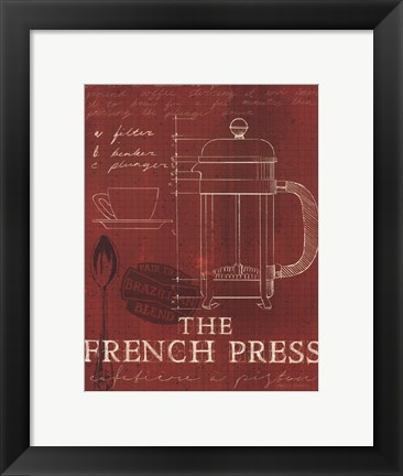 Framed Coffee Blueprint I v Print