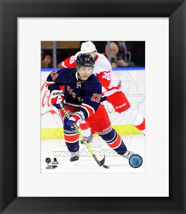 Framed Martin St. Louis 2013-14 Action Print