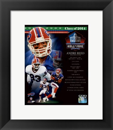 Framed Andre Reed 2014 Hall of Fame Composite Print