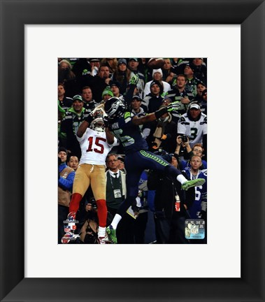 Framed Richard Sherman pass deflection 2013 NFC Championship Game Print