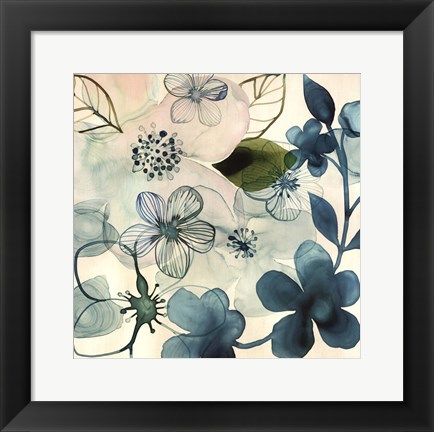 Framed Water Blossoms III Print