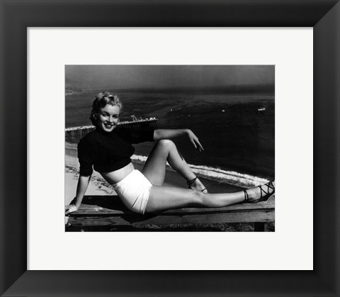 Framed Marilyn Monroe 1951 Print