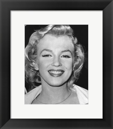 Framed Marilyn Monroe 1956 Print