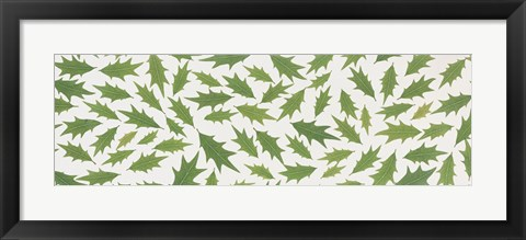 Framed Pattern of Hollies Print