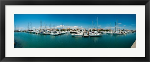 Framed Small harbor in Provence-Alpes-Cote d'Azur, France Print