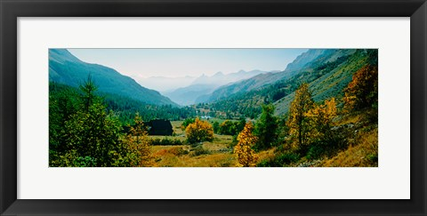 Framed Estenc Valley in autumn, French Riviera, Provence-Alpes-Cote d'Azur, France Print