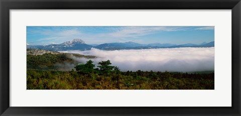 Framed Morning fog on Verdon Gorge, Provence-Alpes-Cote d'Azur, France Print