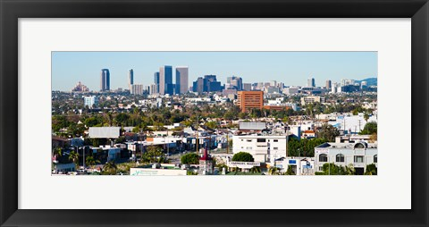 Framed Century City, Beverly Hills, Wilshire Corridor, Los Angeles, California, USA Print