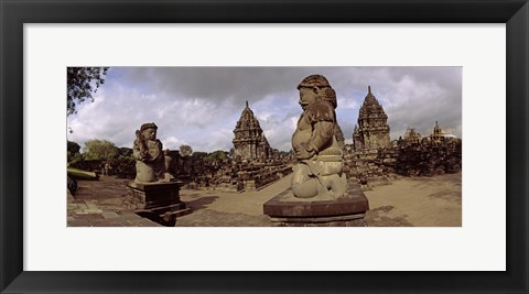 Framed Statues in 9th century Hindu temple, Indonesia Print