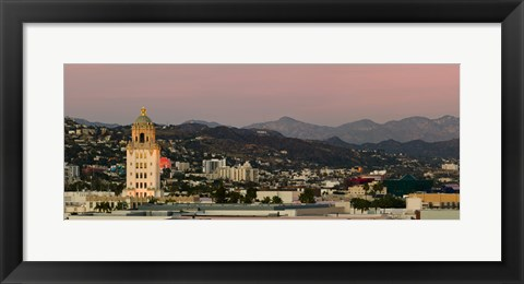 Framed Beverly Hills City Hall, Beverly Hills, West Hollywood, Hollywood Hills, California Print