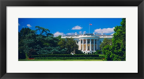 Framed Facade of a government building, White House, Washington DC Print