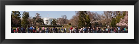 Framed Tourists in front of White House, Washington DC, USA Print