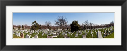 Framed Tombstones in a cemetery, Arlington National Cemetery, Arlington, Virginia, USA Print