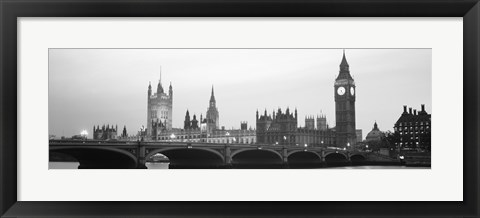 Framed Houses of Parliament, Westminster Bridge and Big Ben, London, England Print