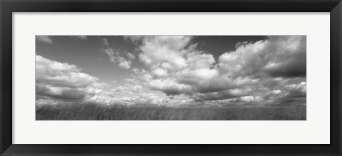 Framed Hayden Prairie, Iowa (black and white) Print