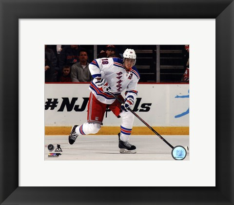 Framed Marc Staal on ice 2013-14 Print
